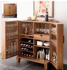 Folding Home Bar Cabinet Mini Bar Furniture For Stylish Entertainment Areas Barrel Bar