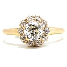 vintage gold engagement rings for women