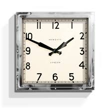 Wall Watch by Newgate Quad Chrome Wall Clock