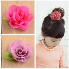 flower hair clip 100pcs free shipping embellished chiffon flower hair clip hair