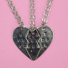 best friends necklace set images Best friends forever 3 piece necklace set sour cherry JPG