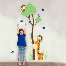 stickers for card making picture more detailed picture about cute monkey giraffe wall sticker height ruler measure sticker for baby room kid room