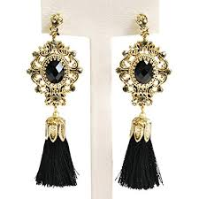 statement earrings gold tassel bohemian vintage dangle drop big statement