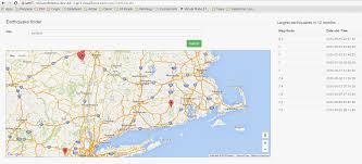 Map Api Realtime Earthquake Location And Magnitude Finder U2013 Using
