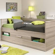 montana low day bed with trundle bed drawers u0026 shelves in grey oak