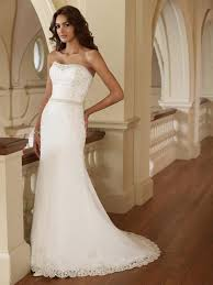 Fitted Wedding Dresses Turmec Fitted Lace Strapless Wedding Dress