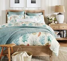 del mar coastal quilt cover u0026 pillowcase pottery barn au