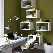 Wall Shelving Units by Wall Shelving Units Design With Green Wall And Laptop Corner