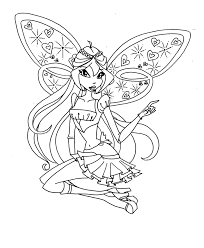 winx club coloring pages chibi coloringstar