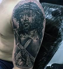60 3d jesus tattoo designs for men religious ink ideas