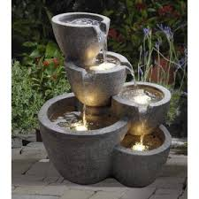Outdoor Water Fountains With Lights Garden U0026 Water Fountains Hayneedle
