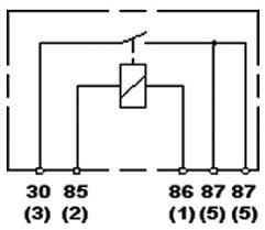 hella hl87118 mini relay 12v 40a spst dual 87 pin with bracket