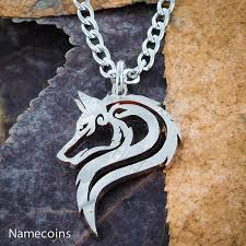 silver wolf pendant necklace images Wolf and fox necklaces namecoins jpg
