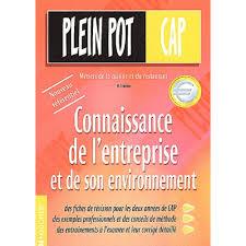 livre cap cuisine connaissance de l entreprise et de environnement cap cuisine