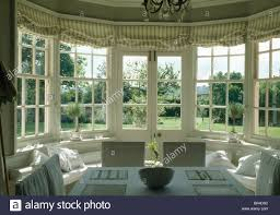 Dining Room Blinds Dining Room Striped Blinds On French Windows In Dining Room With View Of The