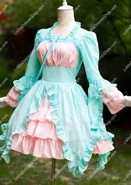 cool dresses cheap summer cool sky blue and pink chiffon and cotton square neck
