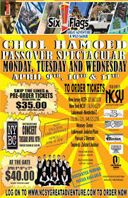 New York To Six Flags New Jersey Ncsy Presents Six Flags Chol Hamoed Passover Spectacular Jewish