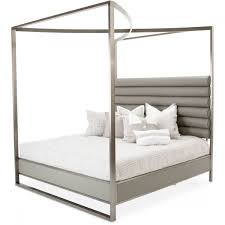 michael amini metro lights metal bed with canopy california king aico michael amini metro lights metal bed with canopy california king