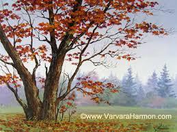 autumn tree acrylic on canvas acrylic farms and houses