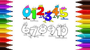 how to draw numbers for tolders coloring numbers for kids art
