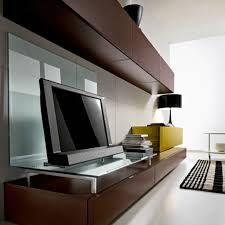 Led Tv Wall Mount Furniture Design Furniture Design Classy Dark Brown Wall Mount Contemporary Lcd Tv