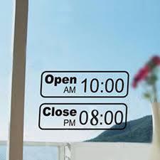 sign decor free shipping shop open time sign decor mural vinyl wall