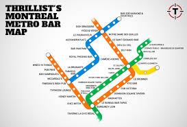 Green Line Metro Map by Montreal U0027s First Map Of Bars Near The Metro Montreal Metro Bar