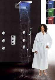 contemporary waterfall shower set thermostatic mixer valve