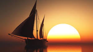 sunrise sea ocean sunset sailboat wallpapers