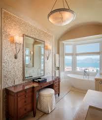 new york tile accent wall bathroom beach style with navy