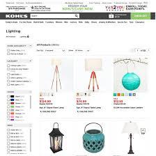 Kohls Floor Lamps Kohl U0027s Homepage U0026 Categories Usability Score 1279 Baymard