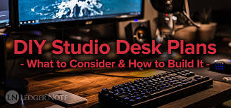 diy studio desk plans custom fit for your needs ledger note