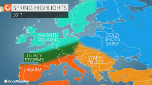 Allergy Map 2017 Europe Spring Forecast Winter To Linger From Uk To Poland