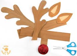 printable reindeer antlers colour wear kids craft room
