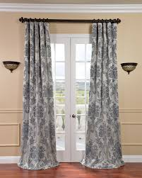 Light Silver Curtains Exclusive Fabrics Magdelena Silver Blue Faux Silk Jacquard