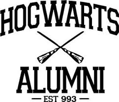hogwarts alumni sticker harry potter hogwarts alumni vinyl car window and laptop decal