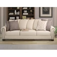 Beige Tufted Sofa by Nailhead Trim Tufted Sofa Wayfair