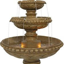 Outdoor Water Fountains With Lights Sunnydaze Gsi 781 Large 4 Tier Eggshell Outdoor Water Fountain