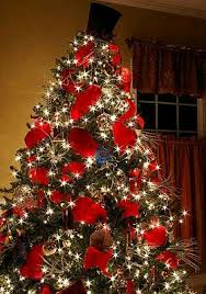 christmas tree with white lights and red bows arboles de navidad decorados de rojo 4 jpg 280 399 mayra