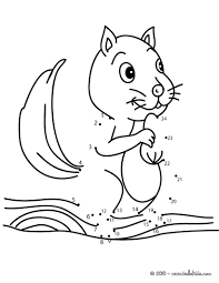 squirrel dot to dot game coloring pages hellokids com