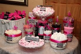 Pink Wedding Candy Buffet by Pink And Black Damask Candy Buffet Perfect The Marshmallows Are