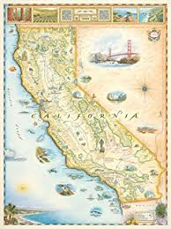louisiana map with counties california state map w counties glossy poster picture