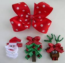 christmas hair bows hair bows ideas for christmas more