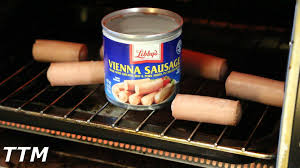 How Long To Cook Hotdogs In Toaster Oven Vienna Sausage Review Cooking Some Old Vienna Sausages In