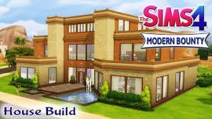 the sims 4 house build modern bounty family home with pool youtube