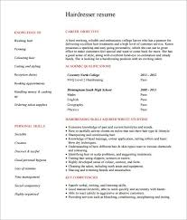 Resume Pdf Template Hairdresser Resume Examples Creative Hair Stylist Resume Free Pdf