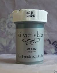amazon com food grade edible color cake u0026 fondant glaze silver