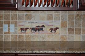 Kitchen Tile Backsplash Murals by Murals Kitchen Tile Backsplashes Of Horses Horses Tiles