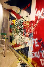 blog studio cultivate the beatles union jack rock and roll painted wall mural progress