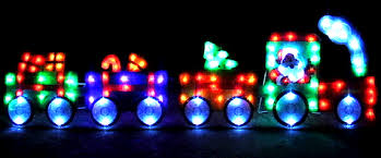 Christmas Train Decoration Outdoors christmas train coming to you decoration and lights